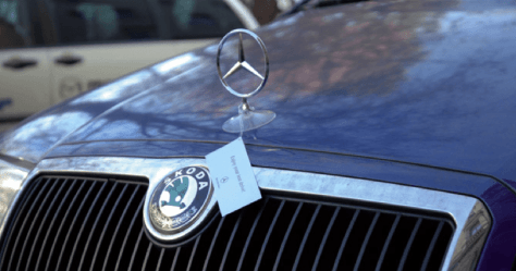 guerrilla marketing voorbeelden Mercedes 2