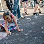 A young concertgoer at Capitol Hill Block Party