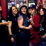 Hell's Belles and their new singer Amber Spence (center). Photo by Alex Crick