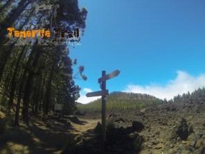 Cartelería de la circular, detalle desvío a Santiago del Teide