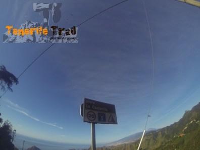 Pista de La Canterilla que une punto de llegada con la carretera