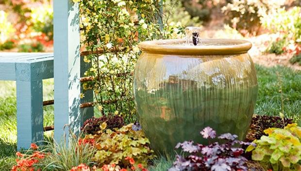 Come realizzare una fontana nel giardino guida giardino for Fontana artificiale