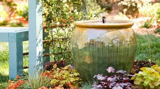 Come realizzare una fontana nel giardino