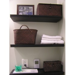 Small Crop Of Wooden Shelves Bathroom
