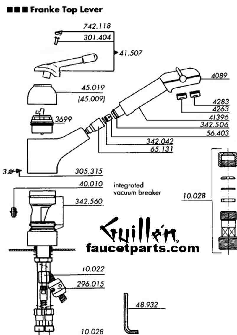 Franke kitchen faucet replacement parts FF parts