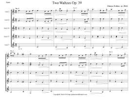 Two Waltzes op. 39 standard (preview)