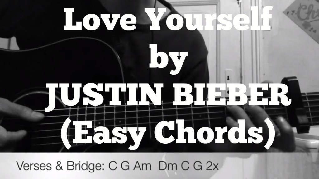 Justin Bieber Love Yourself Very Easy Guitar Chords Guitar Grotto