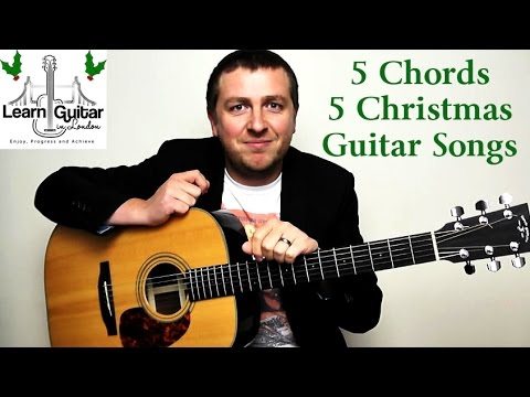 5 Easy Christmas Guitar Songs – 5 Chord Guitar Lesson – How To Play ...