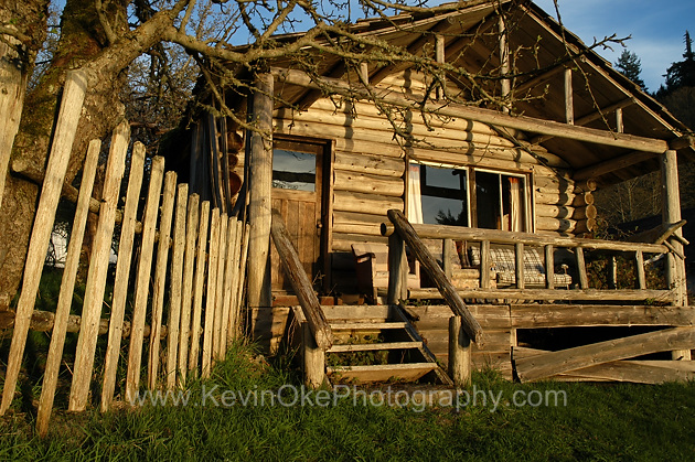 One of the old buildings at Roesland in the Gulf Islands National park, North Pender Island, BC