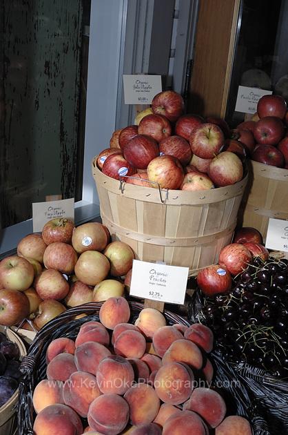 Fruit for sale at a Ganges Market, Salt Spring Island, BC