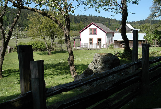 Old farm buildings at Ruckle Provincial Park, Salt Spring Island, British Columbia