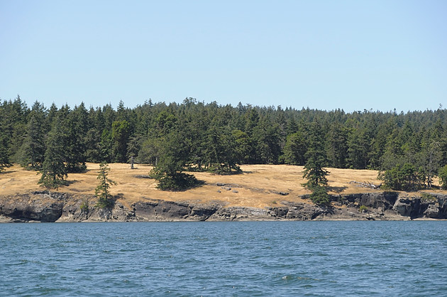Ruckle Provincial Park from the water, Salt Spring Island, British Columbia