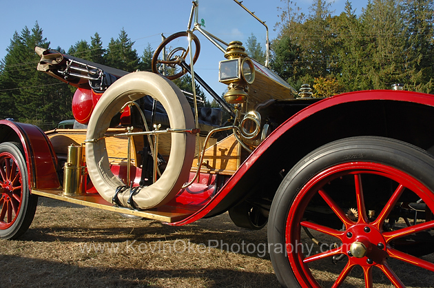Vintage car at the Salt Spring Islands fall fair
