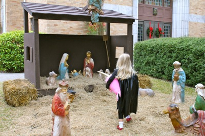 Approaching the Manger