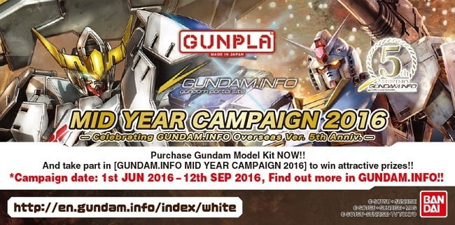 Gundam info Mid Year Campaign 2016