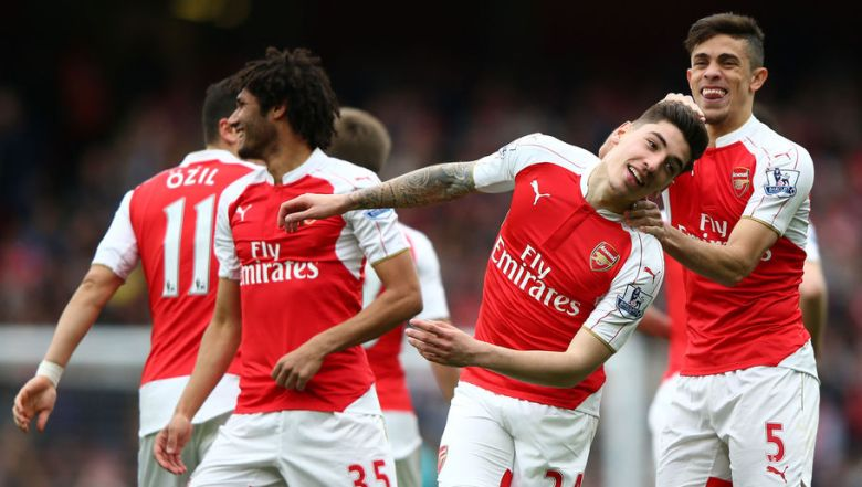 Happy Gunners (thanks Getty)