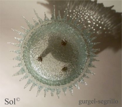 contemporary sculpture series - green design re-used glass