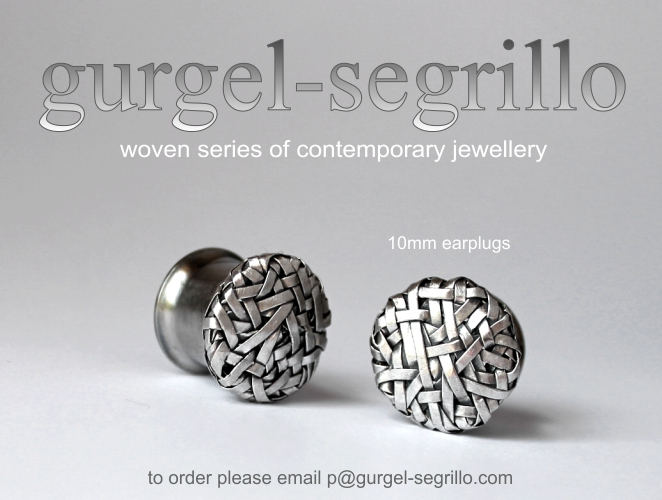 contemporary jewellery handcrafted in fine silver - earplugs