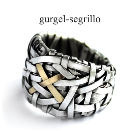 contemporary jewellery RING handcrafted silver gold