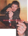 orlando bloom, personal collection - silver ring band handmade by artist gurgel-segrillo