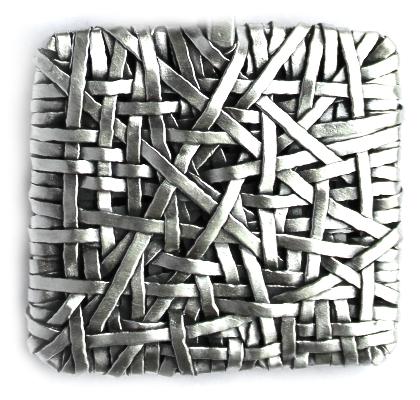 square ring handcrafted in silver gurgel-segrillo