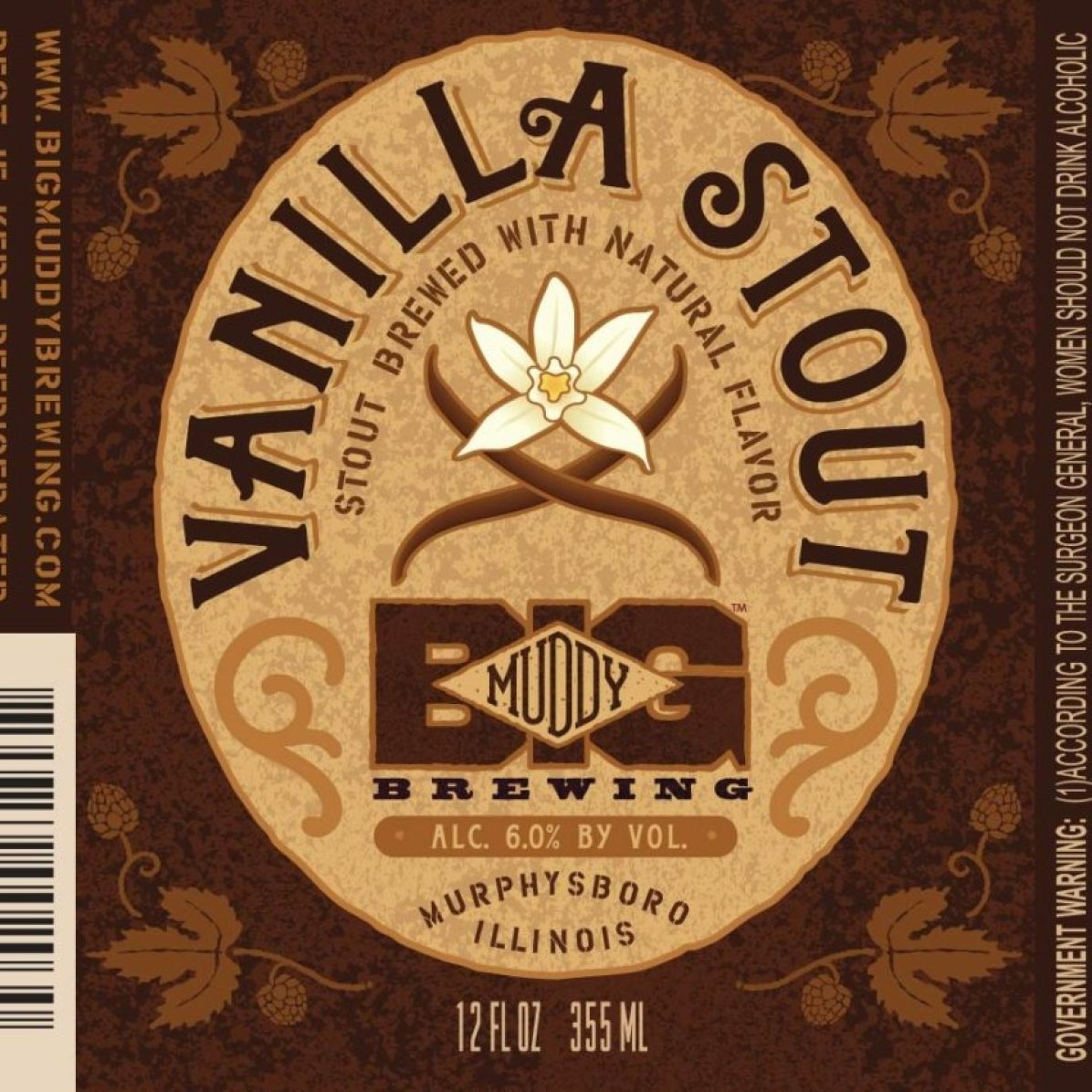 Big Muddy Vanilla Stout (12oz)