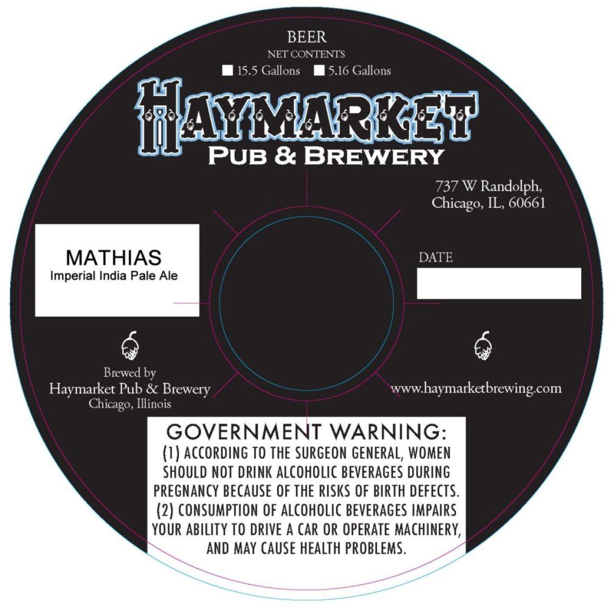 Haymarket Mathias Imperial India Pale Ale