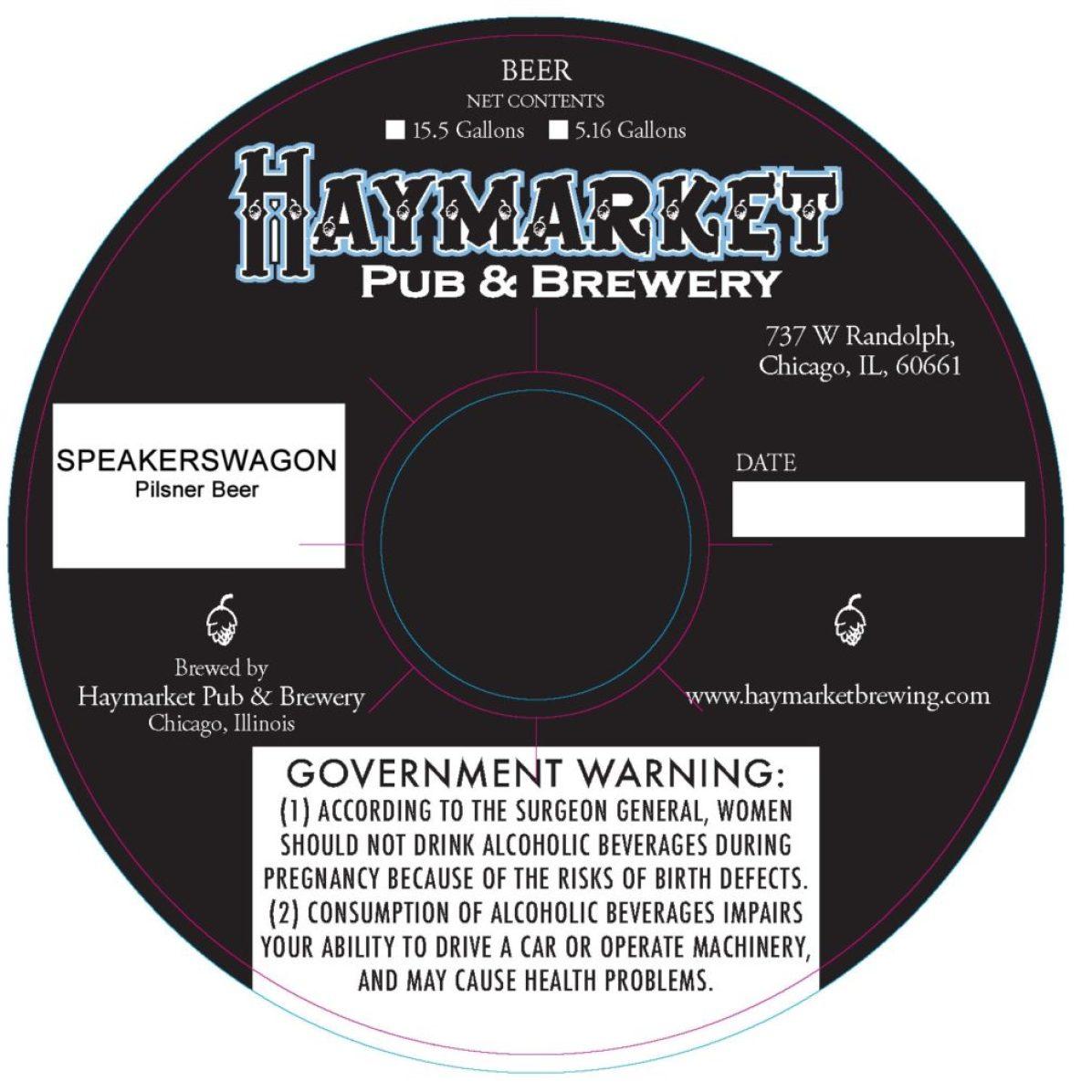 Haymarket Speakerswagon Pilsner