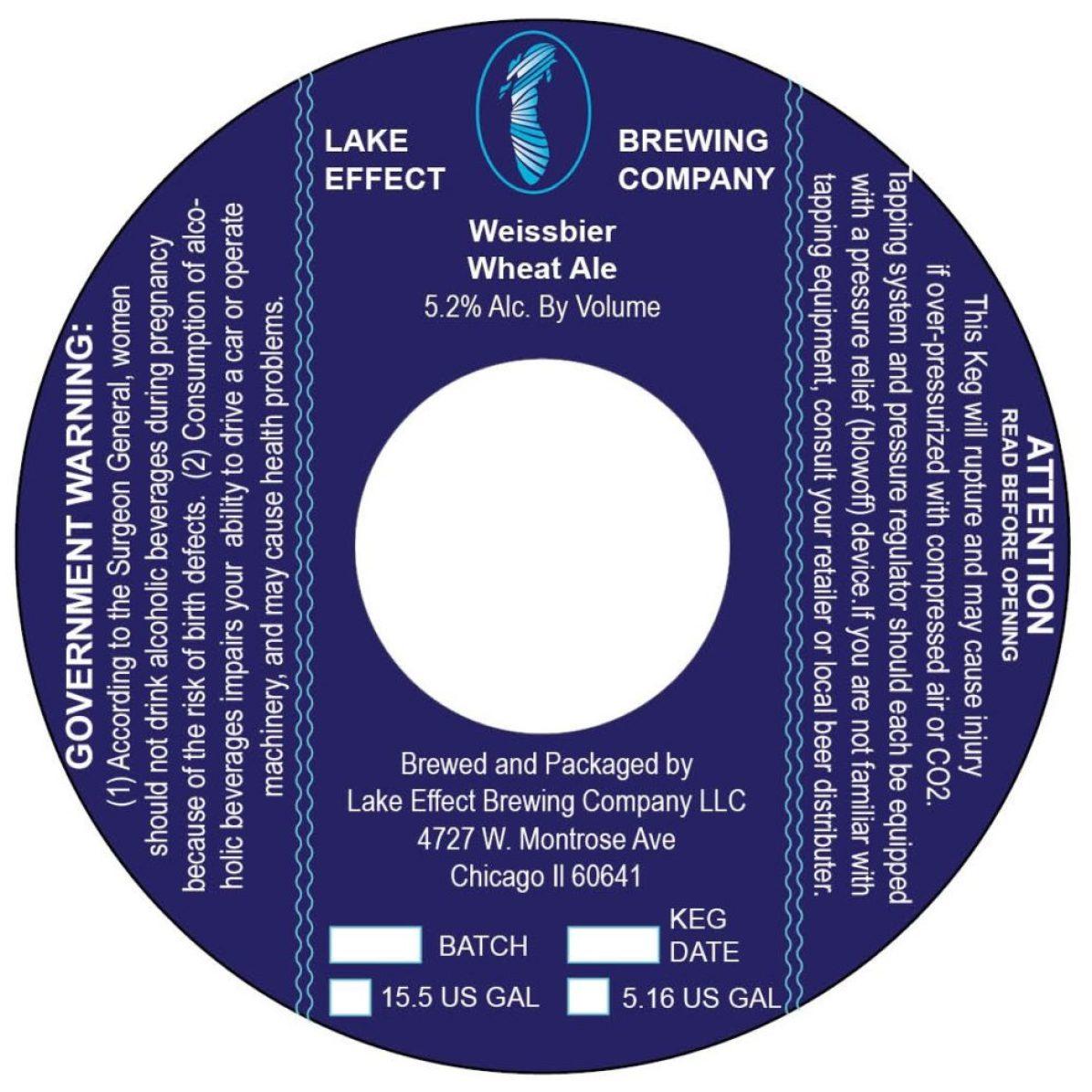 Lake Effect Weissbier