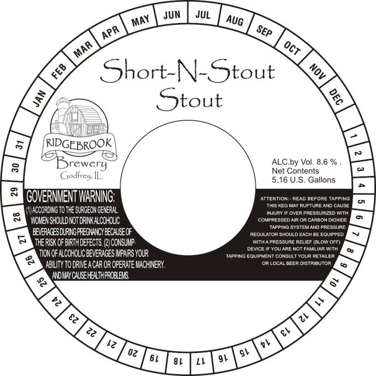 Ridgebrook Brewery Short -N-Stout