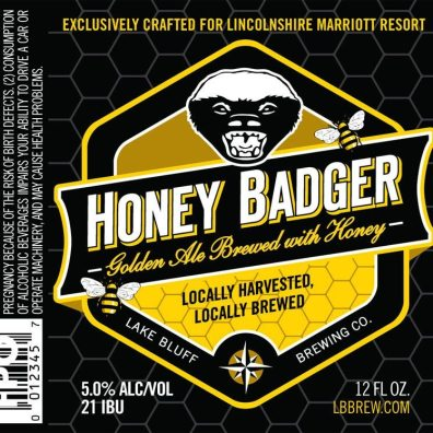 Lake Bluff Brewing Honey Badger