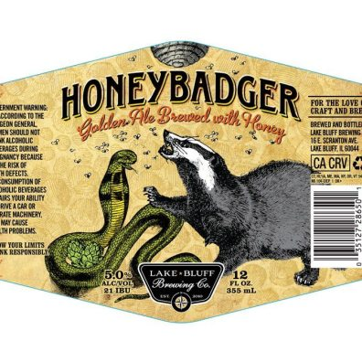 Lake Bluff Brewing Honey Badger Label