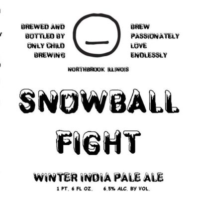 Only Child Snowball Fight Label
