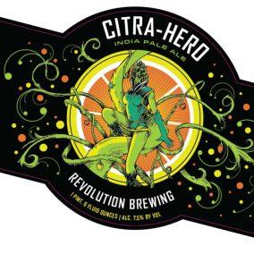 Revolution Brewing Citra Hero Label