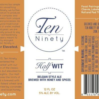 Ten Ninety Half Wit Label