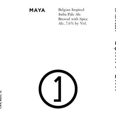 Une Annee Maya Belgian IPA Label