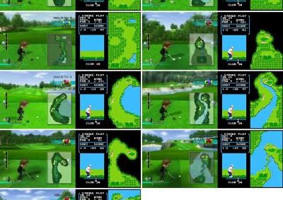 wii golf nes same course