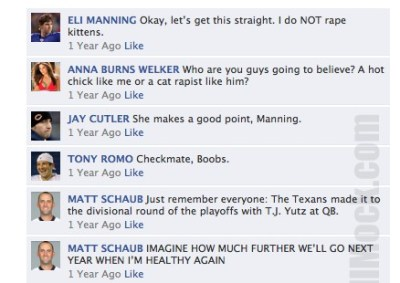 nfl qbs on facebook