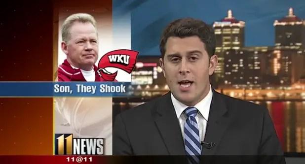 Louisville sports reporter uses 46 classic rap lyrics in a 5 minute segment