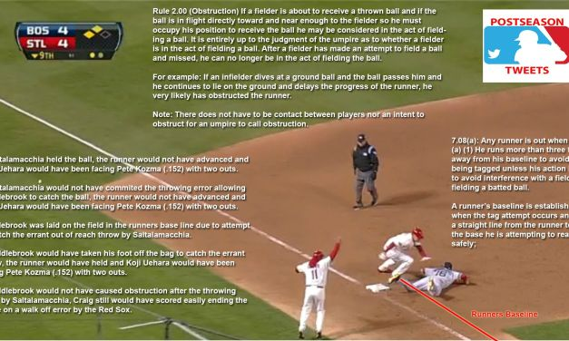Here's that MLB Obstruction rule explained