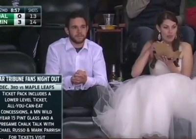 wedding-dress-minnesota-wild-hockey-game