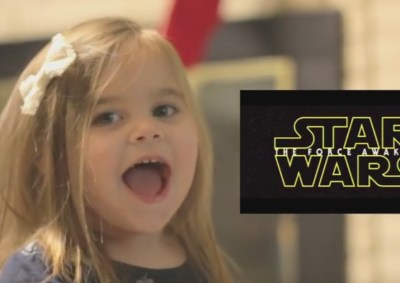 little girl watches star wars