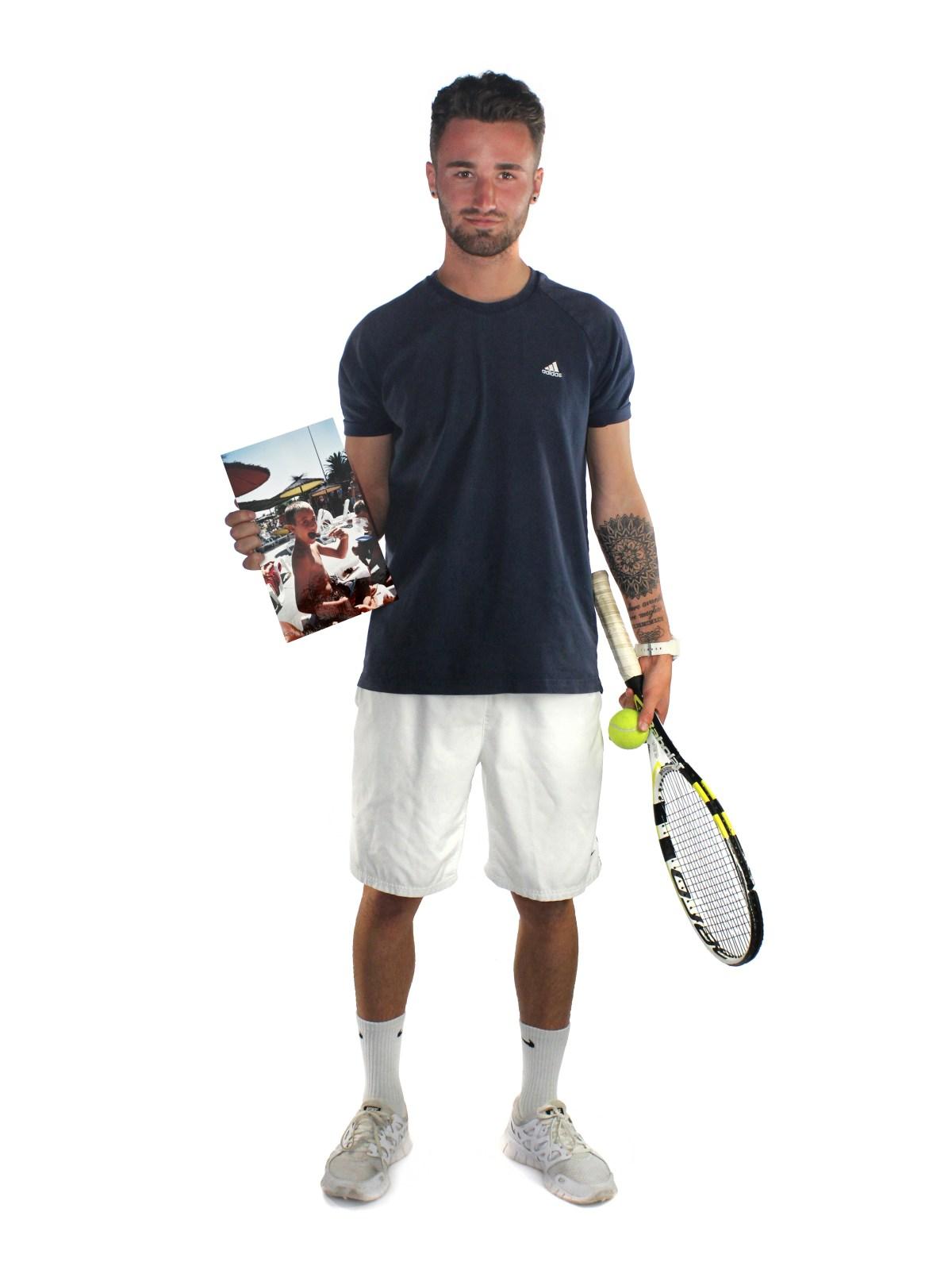 Tennis player Freddie Martin