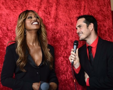 Madame Tussaud's Kieran Lancini meets Laverne Cox. The real Laverne Cox!