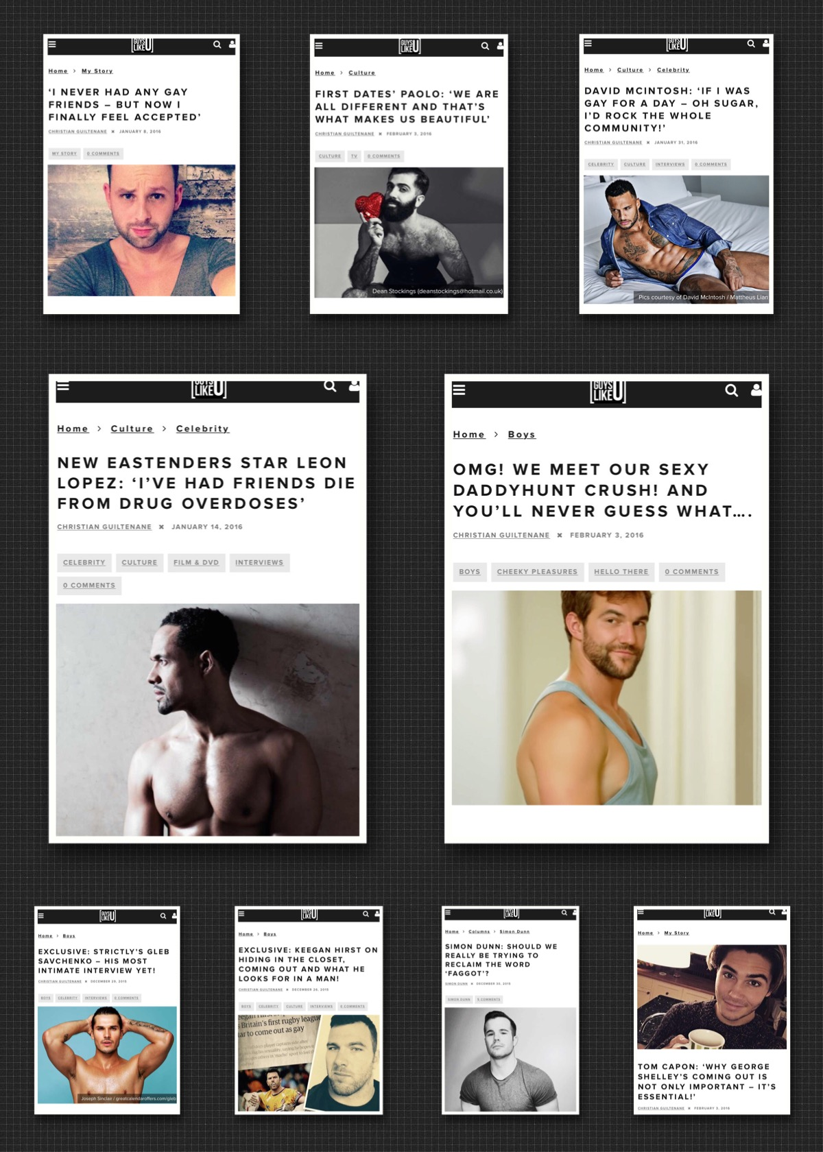 Young gay men websites