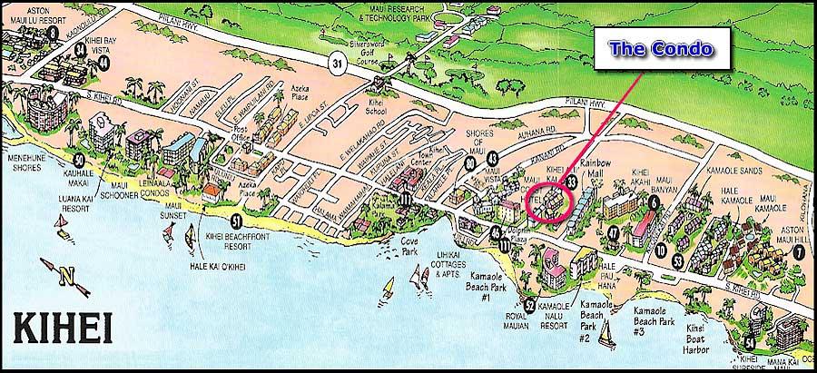 map south maui