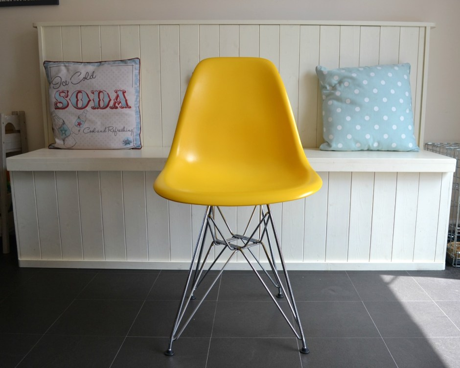 Yellow replica dsr chair by Lakeland Furniture