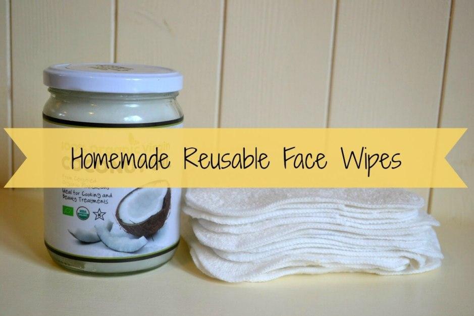 Homemade reusable face wipes