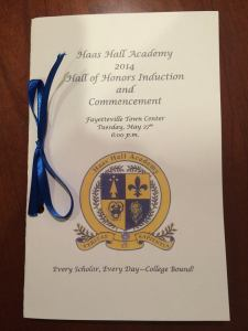 Haas Hall Academy hall of honors and commencement graduation ceremony