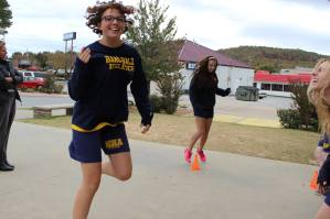 Scholars participate in physical education